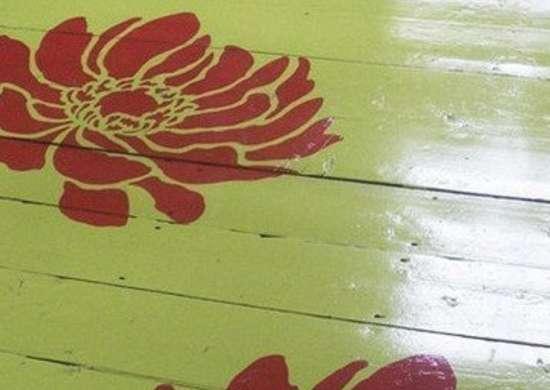 Anemone stencil 400x504