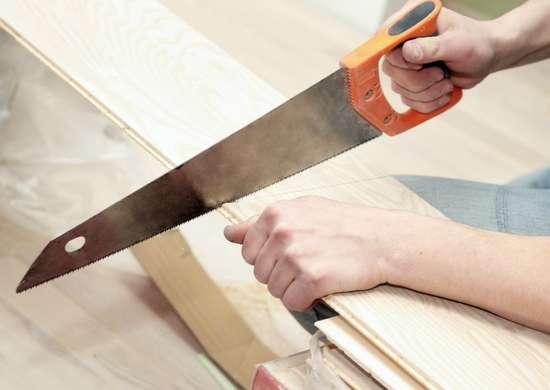 Rub soap on blade to cut wood