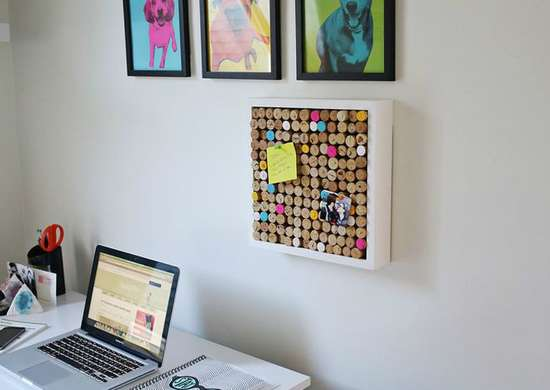 Lazy diy corkboard