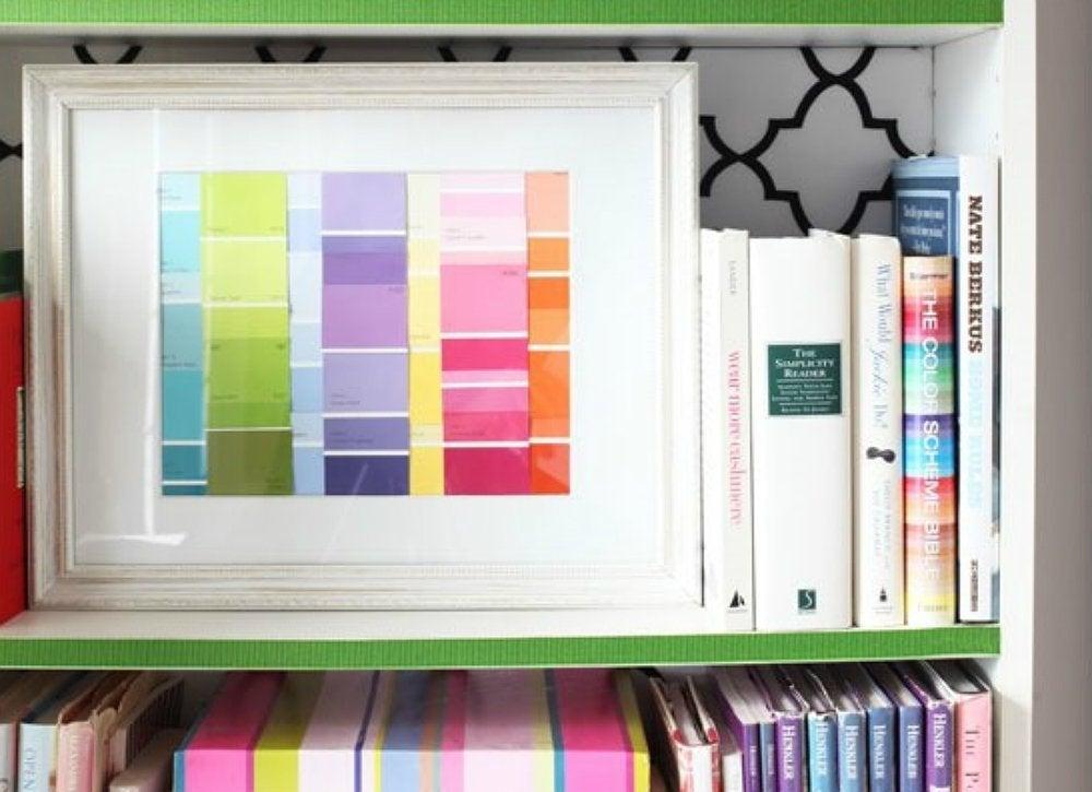 Lazy diy ribbon shelf