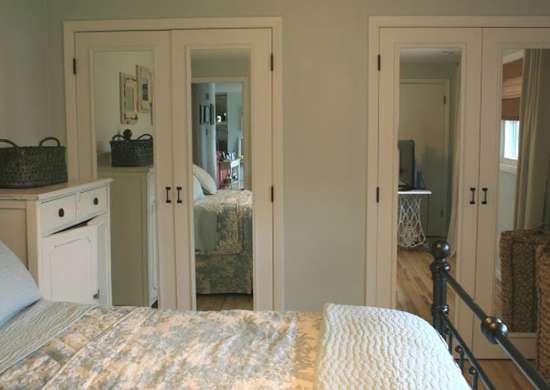 Lazy diy mirrored closet doors