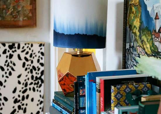 Lazy diy lampshade