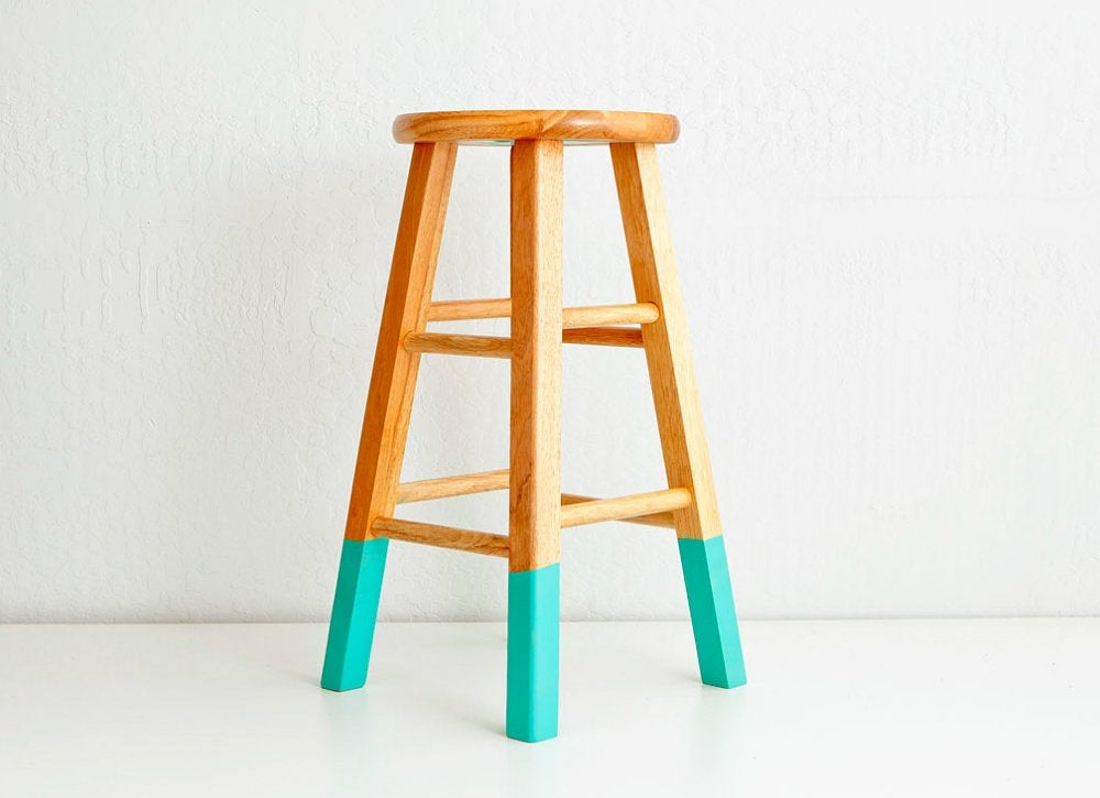 Lazy diy painted stools