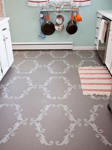 kitchen salvation stenciled floors the best of today 39 s designs bob vila. Black Bedroom Furniture Sets. Home Design Ideas