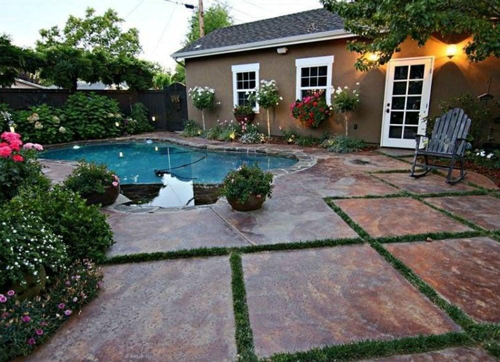 Renovations adding a pool
