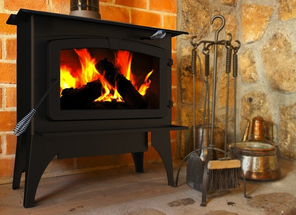 Pleasant Hearth 1 800 Square Feet Wood Burning Stove