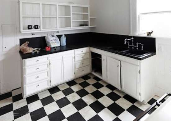 Checkerboard Kitchen Floors