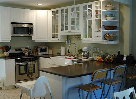 Exceptional Kitchen Makeover Before Laminate Counter