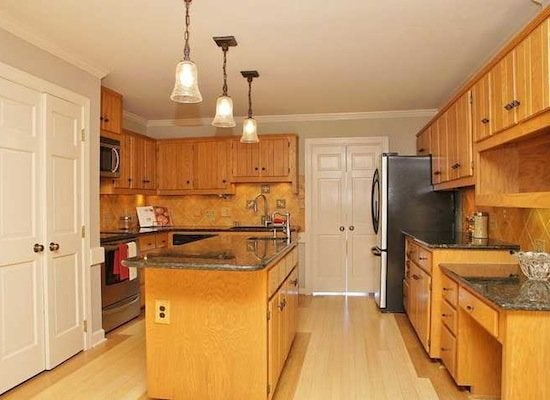 Before and after wood cabinets