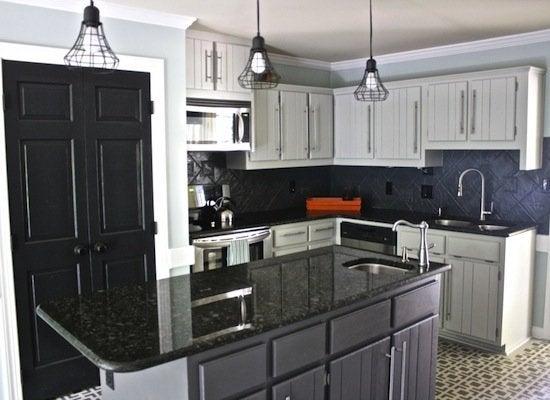 Before and after   gray cabinets