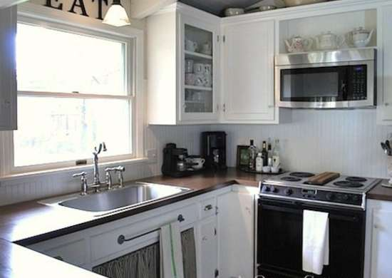 Kitchen makeover after white