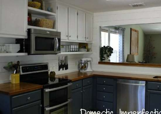 two color kitchen cabinets - kitchen makeovers - 10 you can