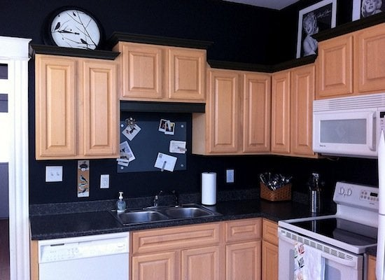 Black And Tan Kitchen Before