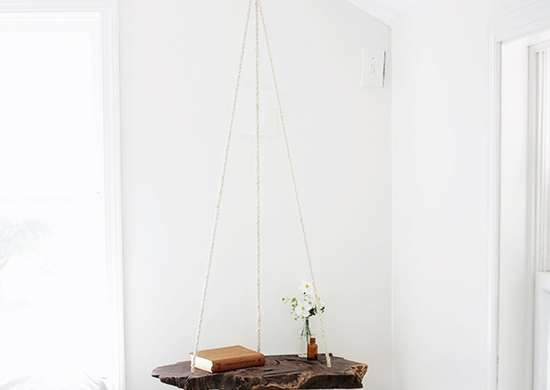 Diy bedroom ideas   hanging table