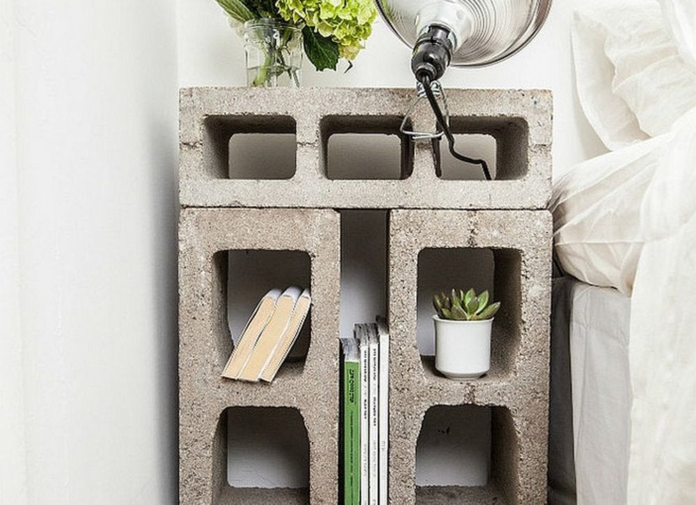Diy bedroom ideas   concrete nightstand