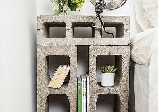 Diy bedroom ideas   concrete nightstand