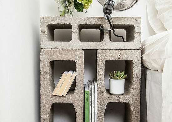 DIY Cinder Block Nightstand