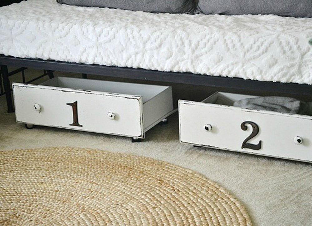 Diy bedroom ideas   underbed drawers