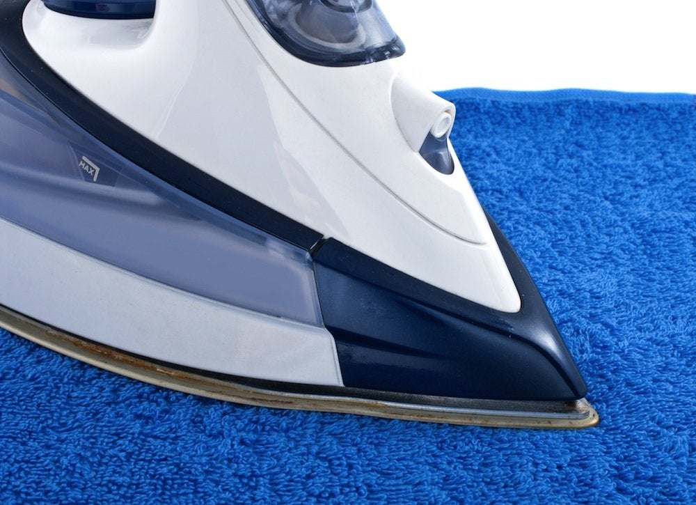 Iron towel veneer