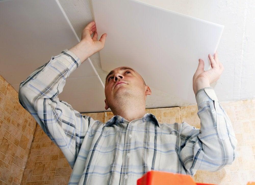 Installing_ceiling_tiles