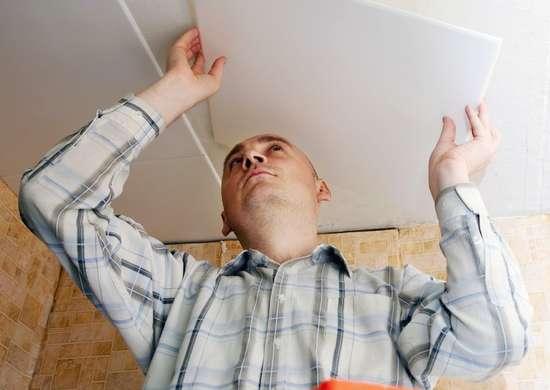 Installing Ceiling Tile