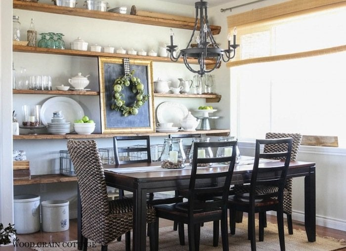 Open shelving dining room small dining room ideas 11 for Small dining room solutions