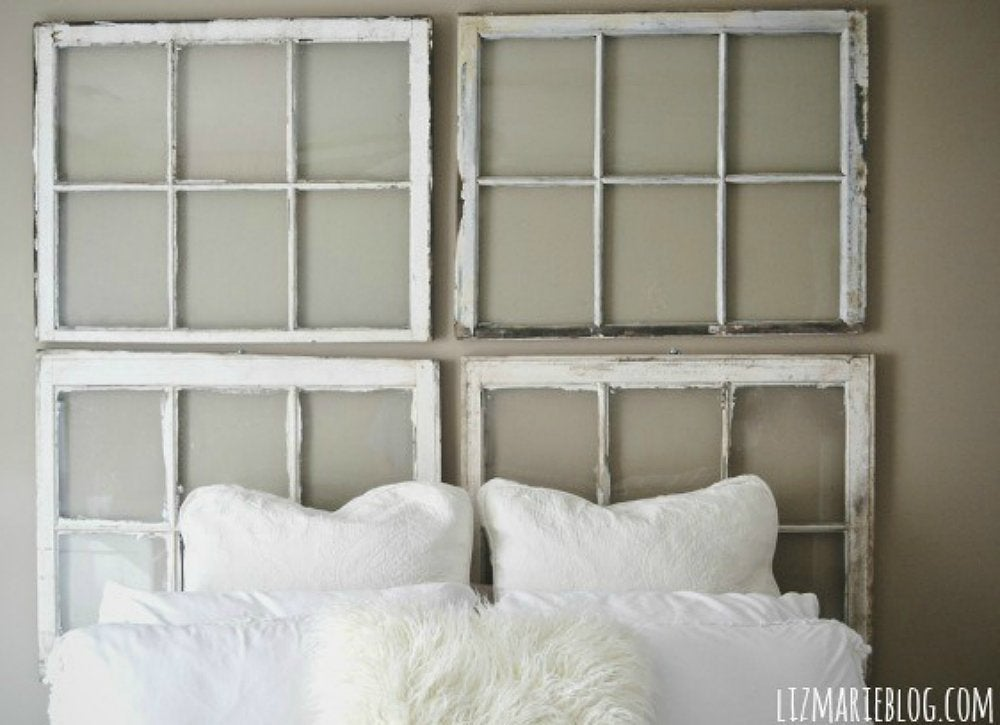 Diy window headboard 2