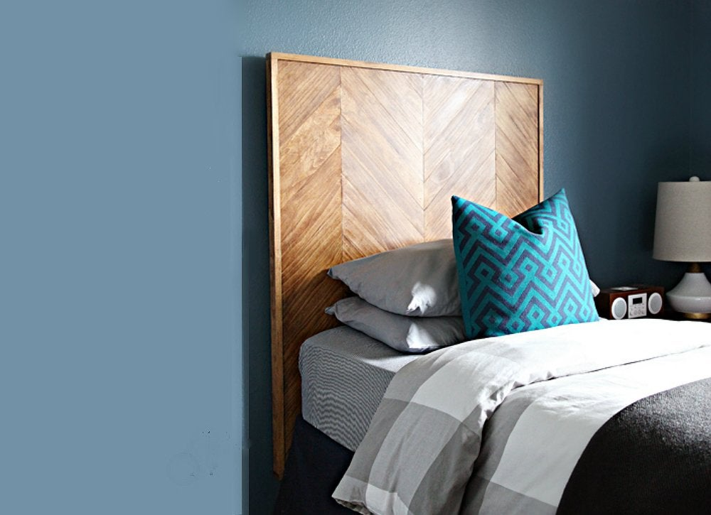 Diy herringbone headboard 10