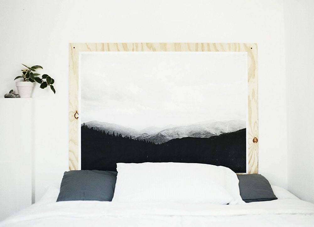 Plywood diy headboard