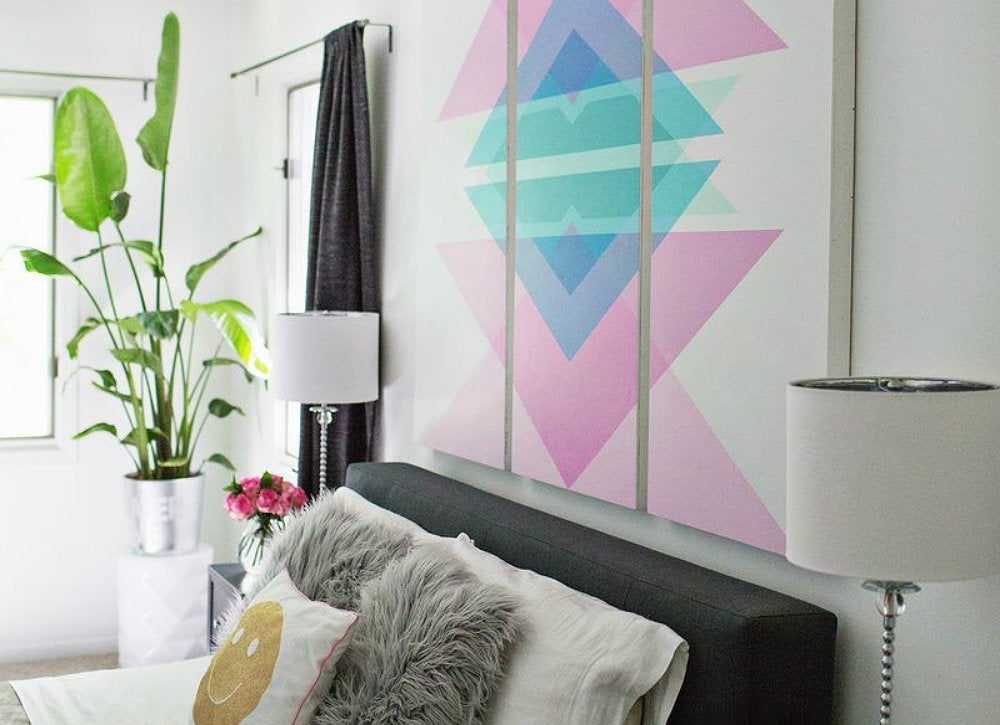 Diy wall art headboard 15