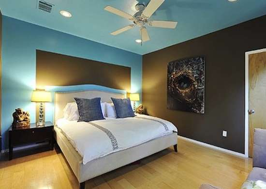 Blue and Brown Bedroom