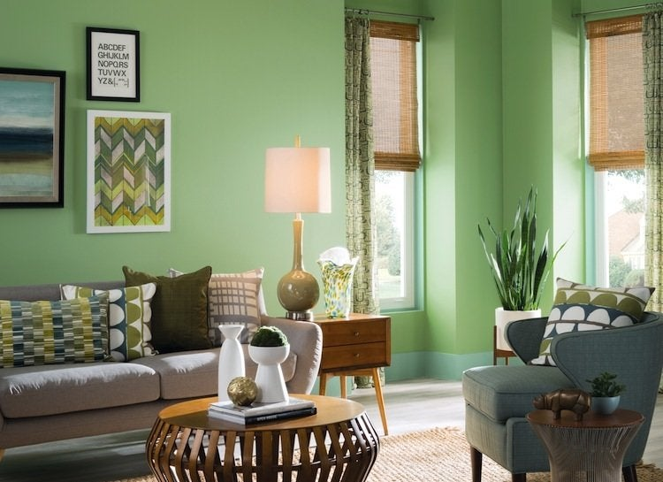 Sherwin-williams-green-living-room