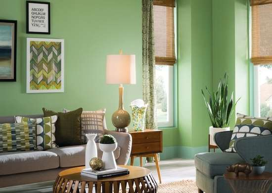 Sherwin williams green living room