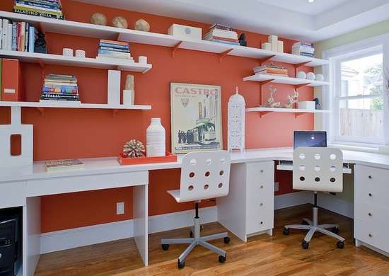 Orange home office