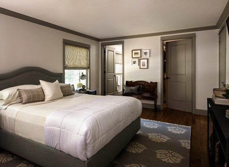 Gray trim bedroom