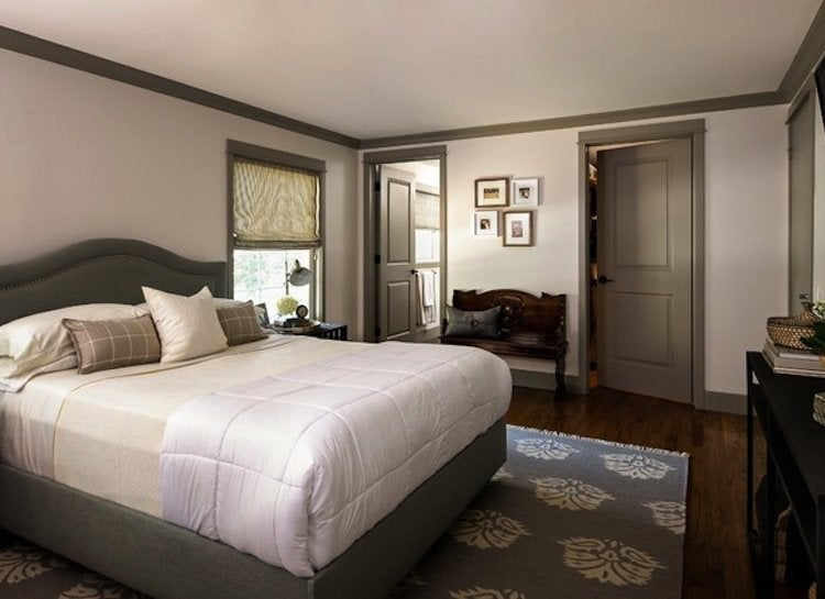 Gray trim bedroom