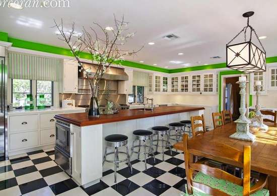 Vintage Kitchen with Checkerboard Floor