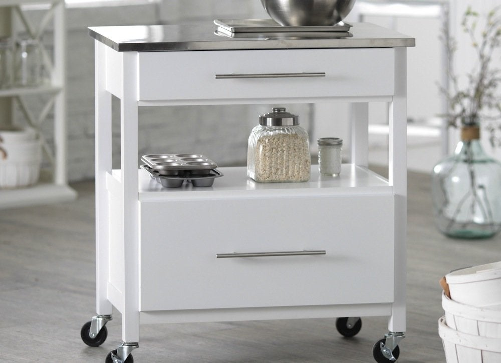 White mini concord kitchen island