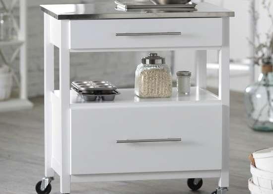 White mini concord kitchen island