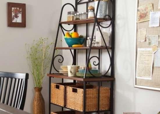 Belham Living Sutter Bakers Rack with Baskets