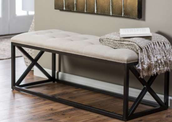Belham Living Grayson Tufted Entryway Bench