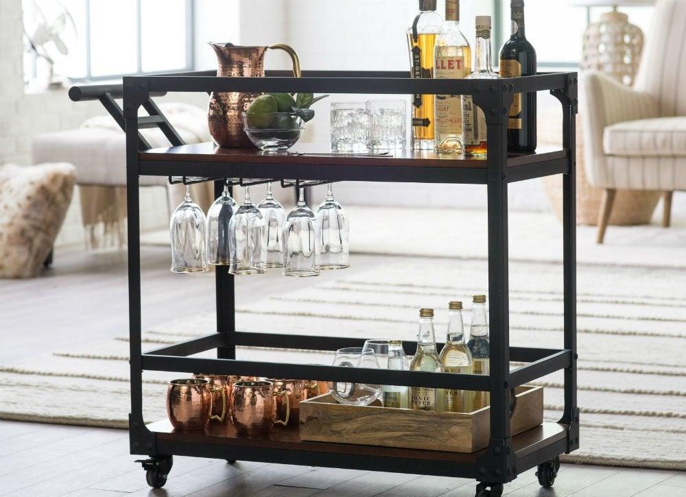 Hayneedle bar cart   ss