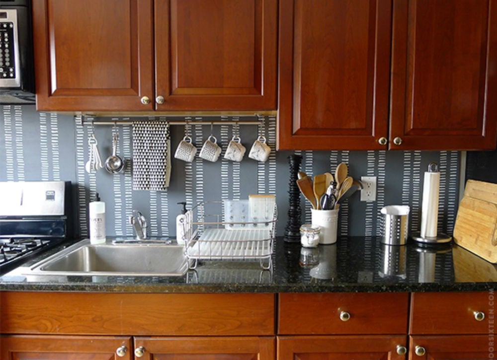 12 cheap backsplash ideas bob vila for Budget kitchen backsplash ideas
