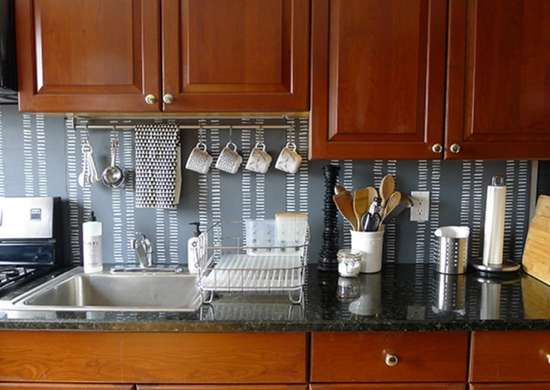 Backsplash ideas   patterned plywood