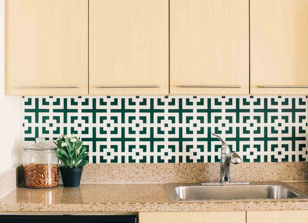 12 cheap backsplash ideas bob vila for Cheap ideas for kitchen backsplash
