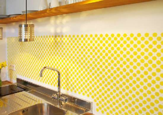 Stencil Backsplash