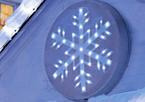 Outdoor holiday lights   snowflake