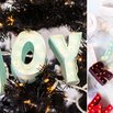 DIY Christmas Ornament Marquee