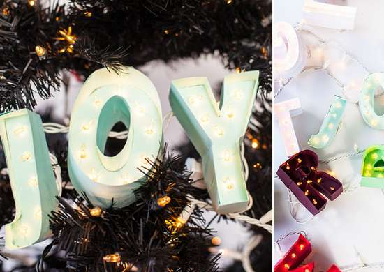 DIY Christmas Ornament Marquee