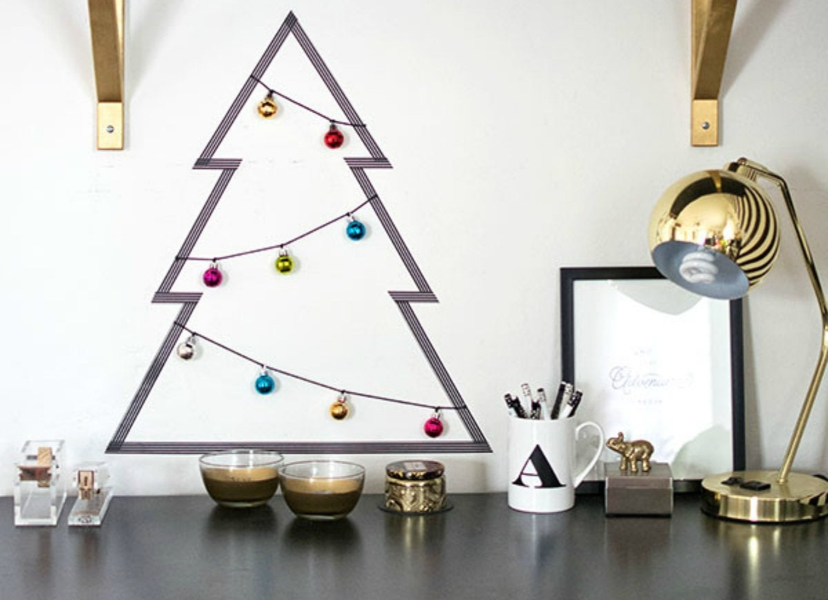 DIY Washi Tape Christmas Tree - DIY Christmas Decorations: 15 ...